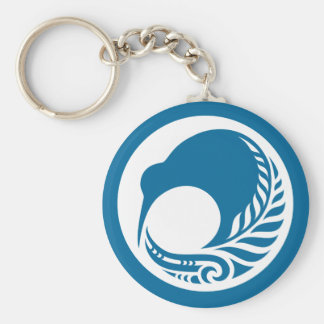 Kiwi Fern Disc Key Ring