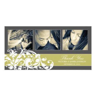 KIWI FLOURISH | WEDDING THANK YOU CARD PHOTO GREETING CARD