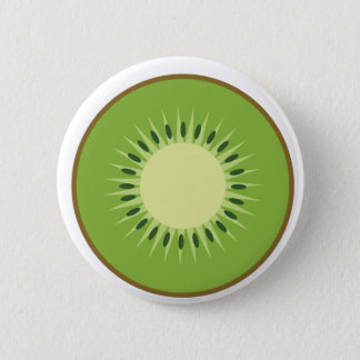 kiwi fruit 6 cm round badge