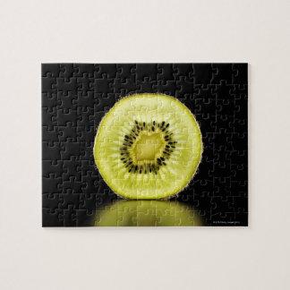 Kiwi,Fruit,Black background Jigsaw Puzzle