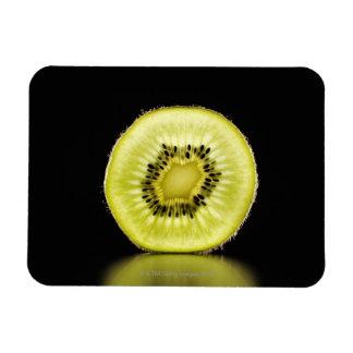 Kiwi,Fruit,Black background Magnet