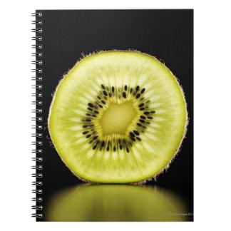 Kiwi,Fruit,Black background Notebooks