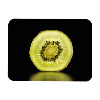 Kiwi,Fruit,Black background Rectangular Photo Magnet