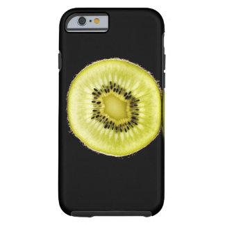 Kiwi,Fruit,Black background Tough iPhone 6 Case