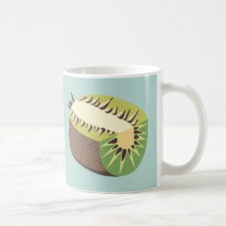 Kiwi fruit illustration coffee mug