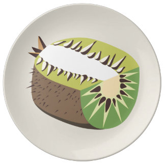 Kiwi fruit illustration porcelain plates