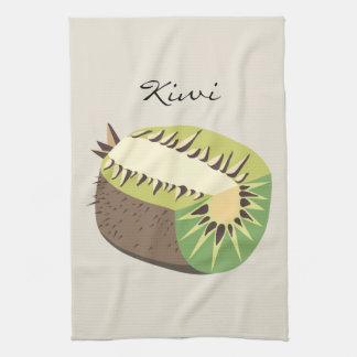 Kiwi fruit illustration towel