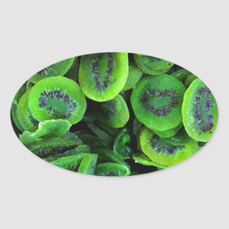 Kiwi Fruit Oval Sticker