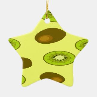 Kiwi fruit pattern christmas ornament