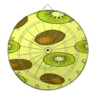 Kiwi fruit pattern dartboard