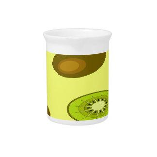Kiwi fruit pattern pitcher