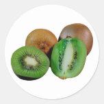 Kiwi fruit runde sticker