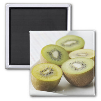 Kiwi fruit square magnet