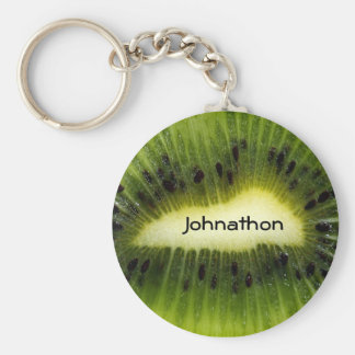 Kiwi Fruit With Name Basic Round Button Key Ring