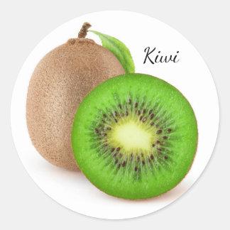 Kiwi fruits classic round sticker