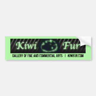 Kiwi Fur Bumper Sticker