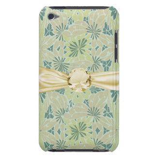 kiwi green art nouveau pattern art barely there iPod case