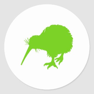 Kiwi Green Bird Classic Round Sticker