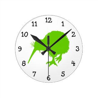 Kiwi Green Bird Wallclock
