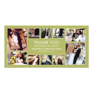 KIWI GREEN COLLAGE | WEDDING THANK YOU CARD