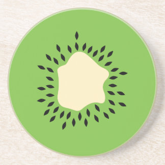 Kiwi illustration beverage coasters