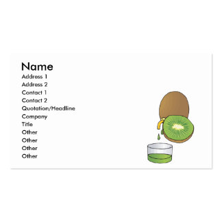 kiwi juice pack of standard business cards