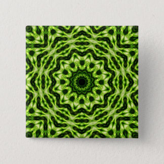 Kiwi Kaleidoscope 15 Cm Square Badge