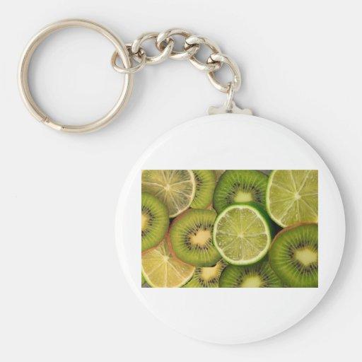 Kiwi lemon and lime key chains