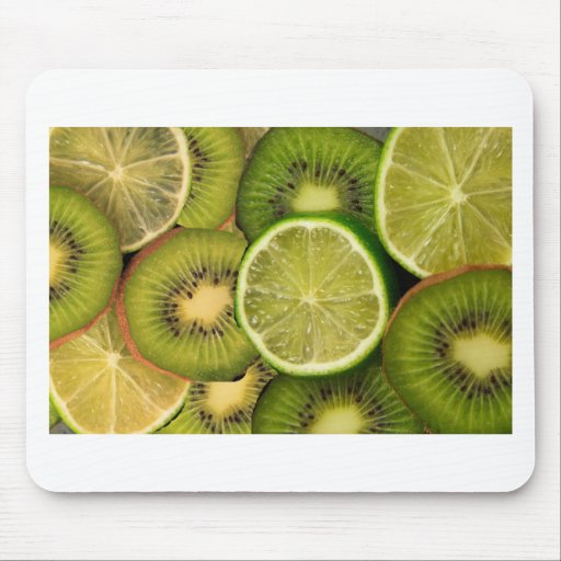 Kiwi lemon and lime mousepad