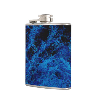 """""""Kiwi Lifestyle"""" - A Touch of Blue Slice#2 Flask"""