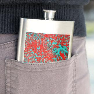 """Kiwi Lifestyle"" - Pohutukawa NZ Bloom Huee Hip Flask"