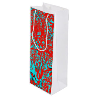 """Kiwi Lifestyle"" - Pohutukawa NZ Bloom Huee Wine Gift Bag"