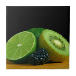 Kiwi, Lime and Blackberry Small Square Tile