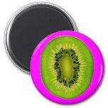 Kiwi Magenta 6 Cm Round Magnet