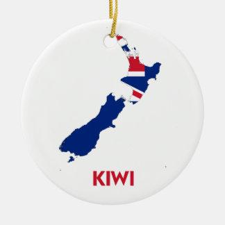 KIWI MAP CHRISTMAS ORNAMENT