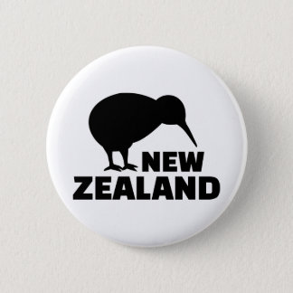 Kiwi New Zealand 6 Cm Round Badge