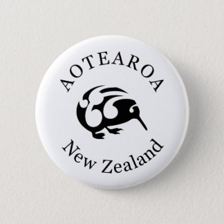 KIWI New Zealand /Aotearoa  national bird 6 Cm Round Badge