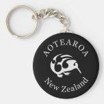 KIWI New Zealand /Aotearoa  national bird Basic Round Button Key Ring