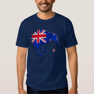kiwi New Zealand flag soccer football gifts Tee Shirt