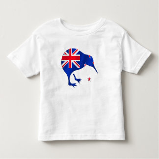 kiwi New Zealand flag soccer football gifts Toddler T-Shirt