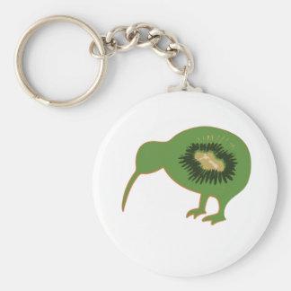 kiwi nz kiwifruit basic round button key ring