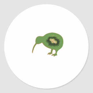 kiwi nz kiwifruit classic round sticker
