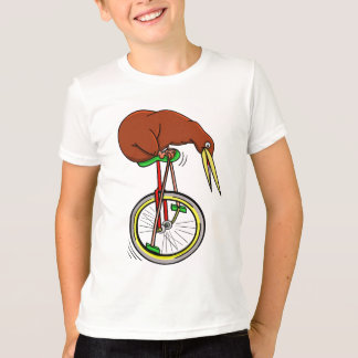 Kiwi Riding A Unicycle T-Shirt