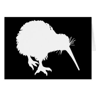 Kiwi Silhouette Greeting Card