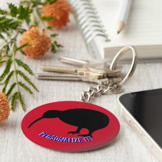 KIWI silhouette Key Ring