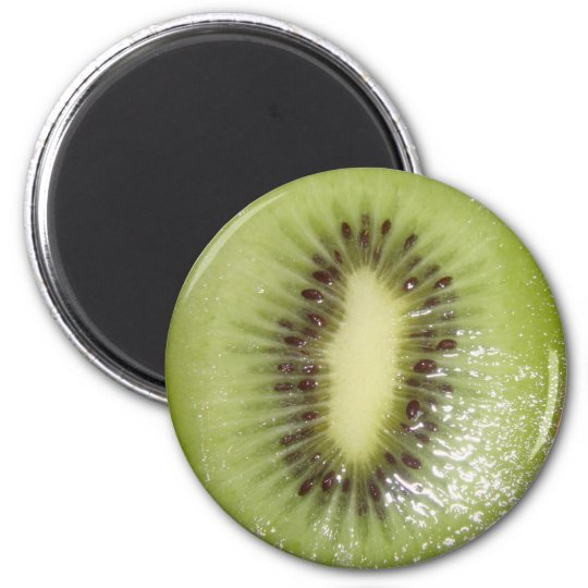 Kiwi Slice Photo 6 Cm Round Magnet