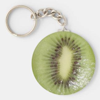 Kiwi Slice Photo Basic Round Button Key Ring