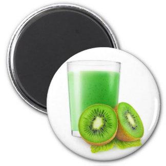 Kiwi smoothie 6 cm round magnet