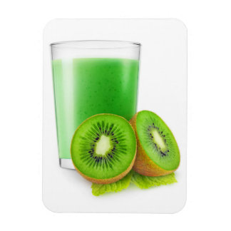 Kiwi smoothie rectangular photo magnet