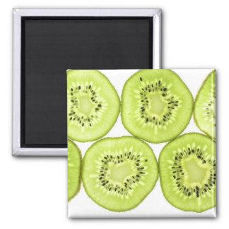 kiwi vitamins fruit food sweet Tropical Paradise 2 Inch Square Magnet
